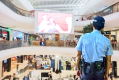 Gerry Harvey says armed security guards could stop robberies at retail stores