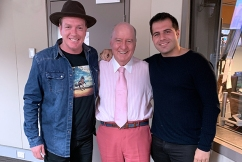Alan Jones launches his staff member's new single, a duet with Mark Vincent