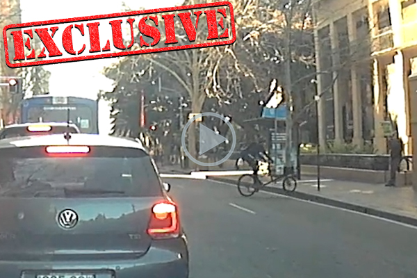 Article image for CHARGED | Footage of cyclist's vile attack on anti-abortion protester