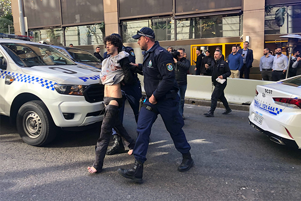Article image for Woman dead after mental health patient goes on CBD stabbing rampage