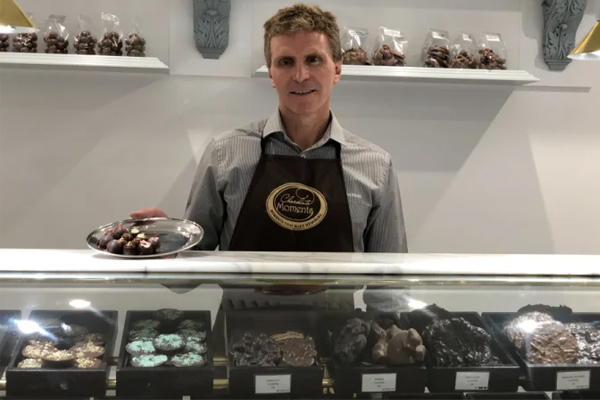 Article image for Paralympian breaks down on-air after having to shut his chocolate shop