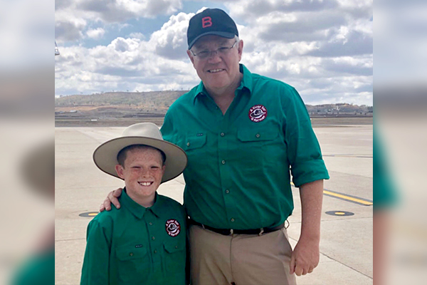 Article image for Scott Morrison makes good on promise to 11yo Jack Berne