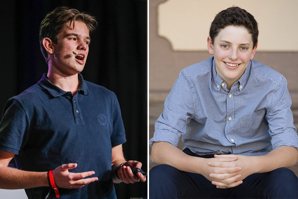 Article image for Alan Jones meets two teenage millionaires who 'put us all to shame'