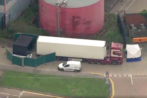 Article image for UK truck horror: 39 people found dead inside refrigerated container