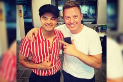 Guy Sebastian surprises owner of fire-ravaged business live on-air