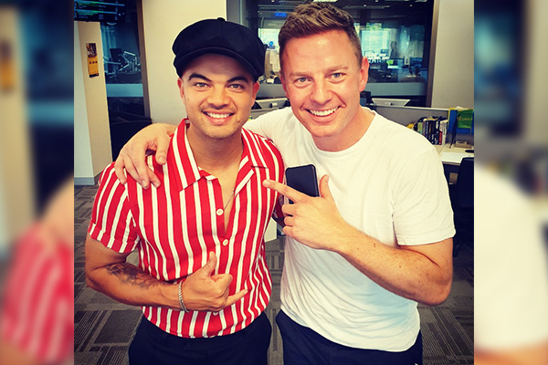 Article image for Guy Sebastian surprises owner of fire-ravaged business live on-air