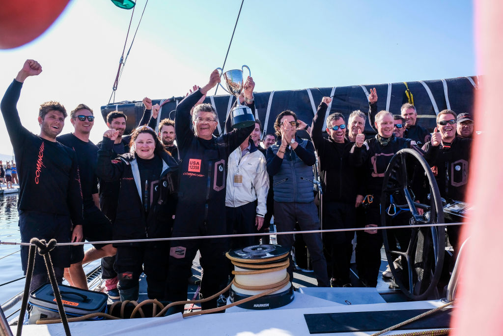 Article image for Comanche skipper wins Sydney Hobart on 'calculated' risk