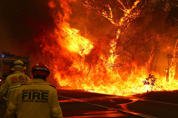 Article image for Properties guaranteed to be lost with 'big wall of fire' heading for NSW