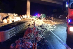 Fatal crash closes M1 in both directions