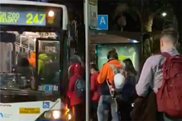 Article image for Public transport restrictions flouted as people return to work