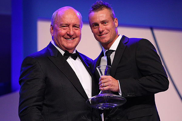 Article image for Lleyton Hewitt calls in to pay tribute to 'mate' Alan Jones