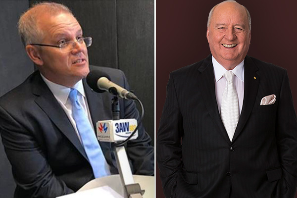 Article image for Scott Morrison calls in to pay respects to Alan Jones