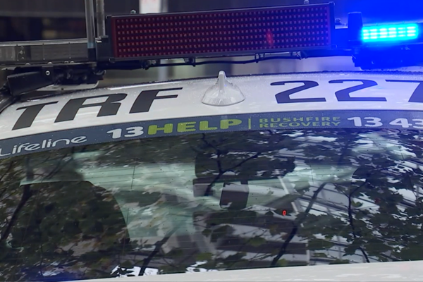 Article image for Police cars branded with bushfire recovery hotline