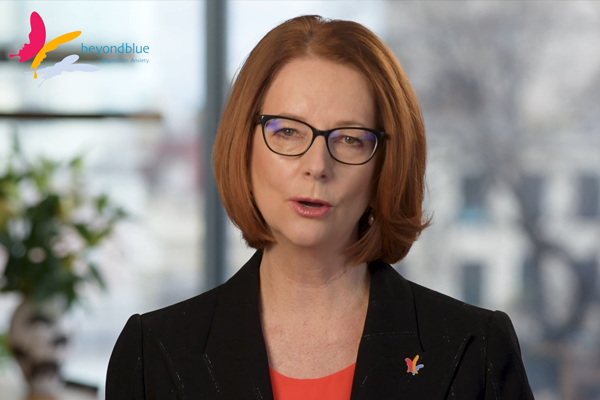 Article image for 'It's a sign of strength': Julia Gillard urges men to reach out for mental health help