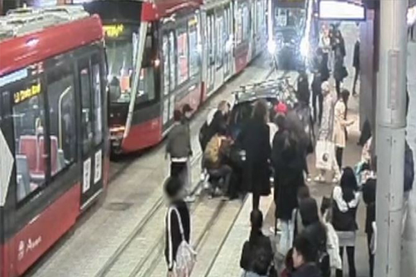 Article image for WATCH | Light rail near misses exposed in shocking new footage