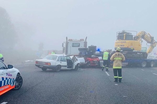 Article image for Truck crash closes NSW highway