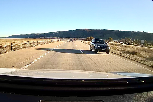 Article image for WATCH | Dangerous near miss as car travels on wrong side of highway