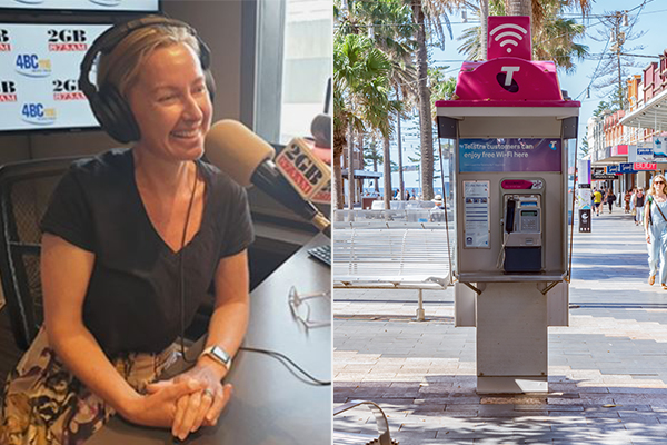 Article image for The moment a shocked Sydneysider answers ringing payphone