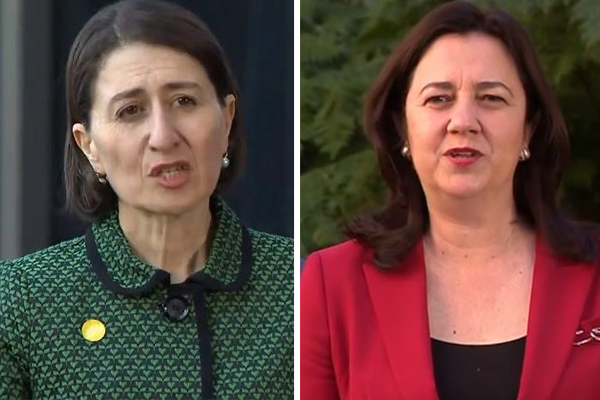 Article image for NSW Premier accuses Queensland counterpart of 'throwing furphies'