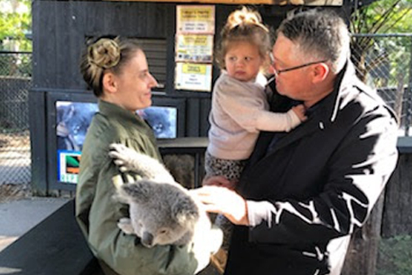 Article image for PHOTOS | Ray Hadley takes grandkids on trip to the zoo
