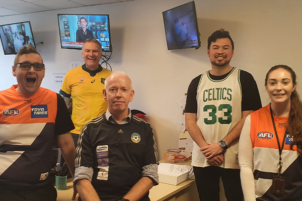 Article image for The 2GB Drive team dresses up in support of Jersey Day