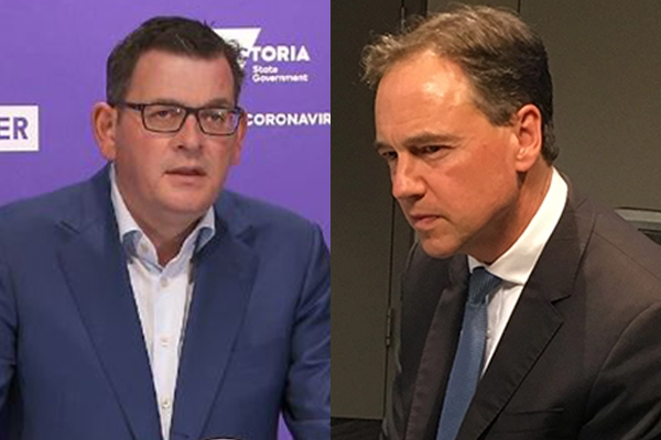 Article image for 'Listen to the cries of the community': Greg Hunt blasts Victoria's COVID roadmap