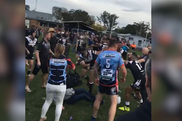 Article image for WATCH | Man on parole allegedly involved in footy fight