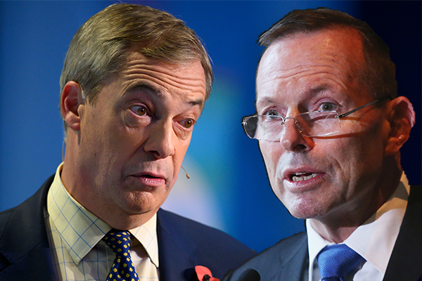 Article image for Nigel Farage defends Tony Abbott's UK move amid scathing criticism