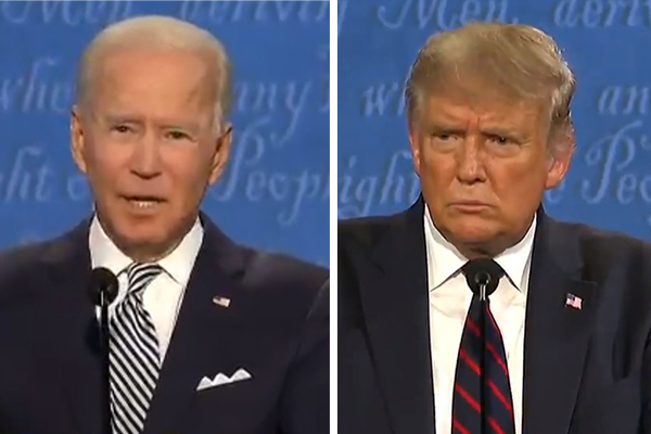 Article image for Donald Trump clashes with Joe Biden in fiery presidential debate