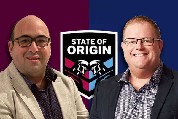 Article image for 'Disgusting!': Mark Levy and Peter Psaltis go head-to-head with Origin wager