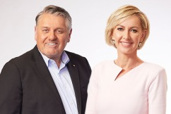 Ray Hadley and Deborah Knight break out in song