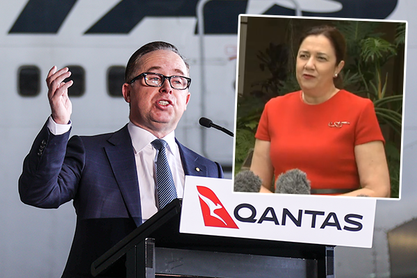 Article image for 'If only they could travel': Qantas CEO hits out at QLD Premier over missed opportunity