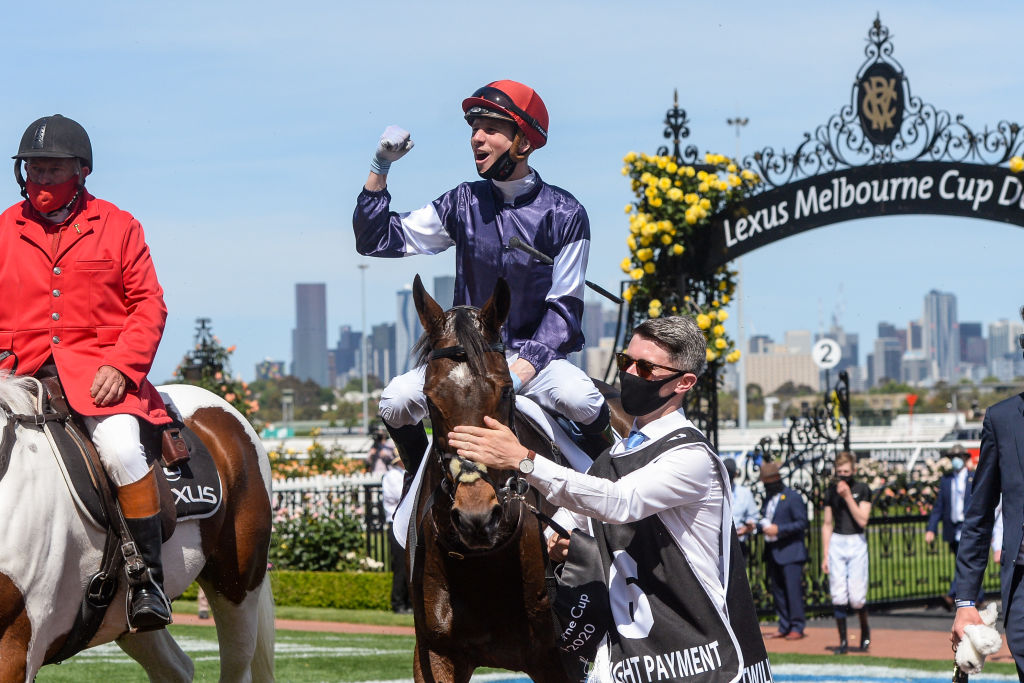 Article image for Elated Twilight Payment team celebrate Melbourne Cup victory
