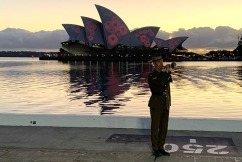 Sydney Opera House lit up with poppies in honour of Remembrance Day