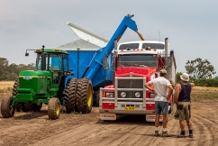 Safety concerns over grain trucks carrying this year's bumper harvest