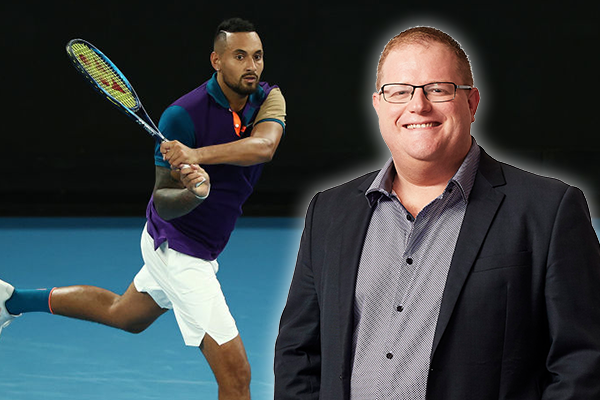 Article image for Mark Levy 'eats humble pie' over 'new and improved' Nick Kyrgios
