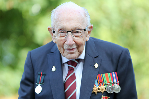 Article image for 'He will be missed': Captain Sir Tom Moore dies aged 100