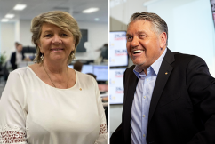 Ray Hadley pays tribute to Bravehearts founder as she passes the baton