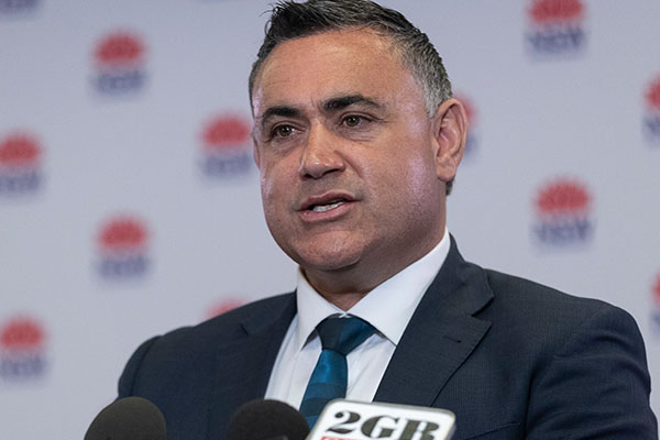 Article image for John Barilaro blasts QLD's 'act of bastardry' against NSW over Olympics funding