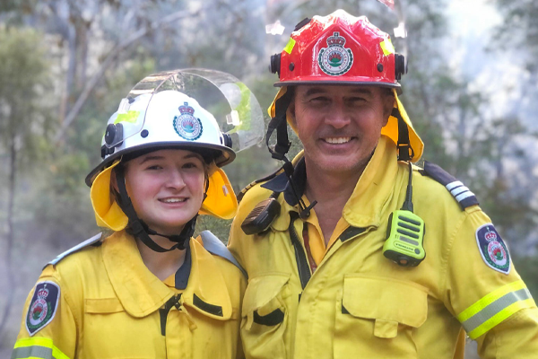 Article image for Dad and daughter duo on front line of fire prevention