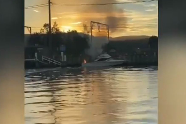 Article image for Person fighting for life after boat explodes on Sydney river