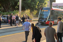 Driver's lucky escape after tram and car collide in Surry Hills