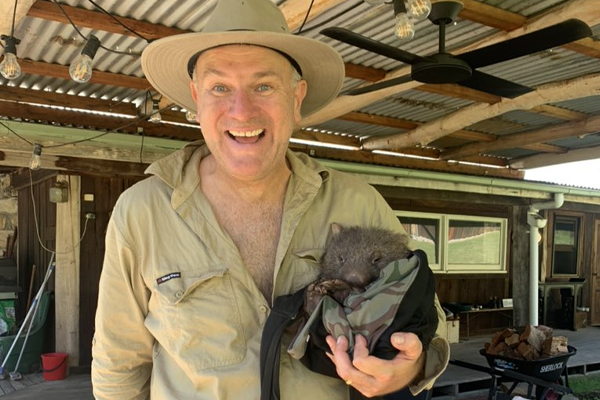 Article image for Jim Wilson to the rescue of adorable baby wombat