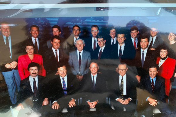 Article image for Jim Wilson shares flashback to '90s newsroom in tribute to 'larger than life' colleague