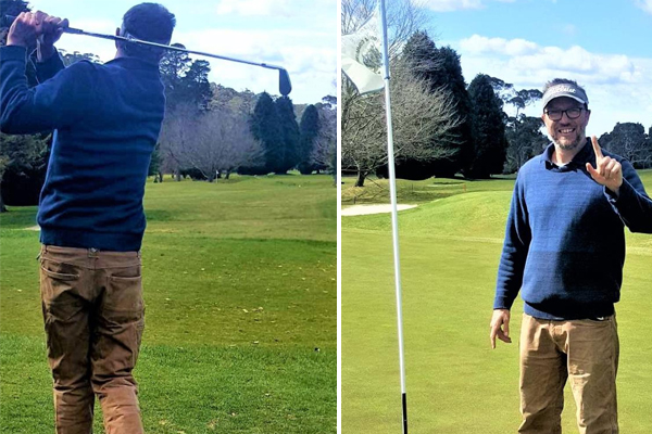 Article image for Blue Mountains golfer hits 'unbelievable' two holes-in-one