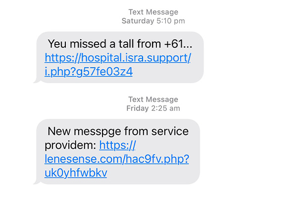 Article image for Where are all those weird texts coming from?