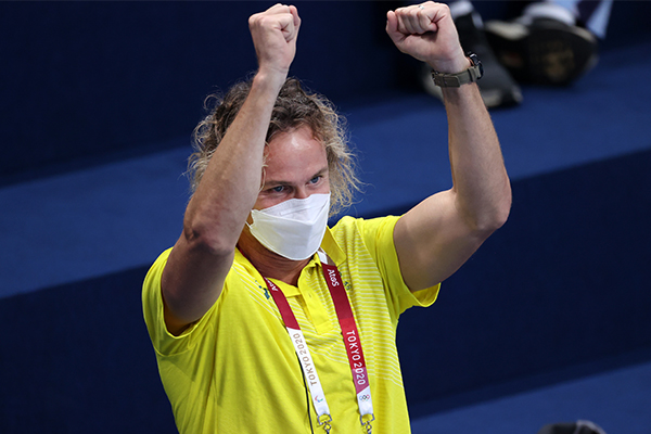 Article image for Coach Dean Boxall sets the record straight on viral Olympic celebration
